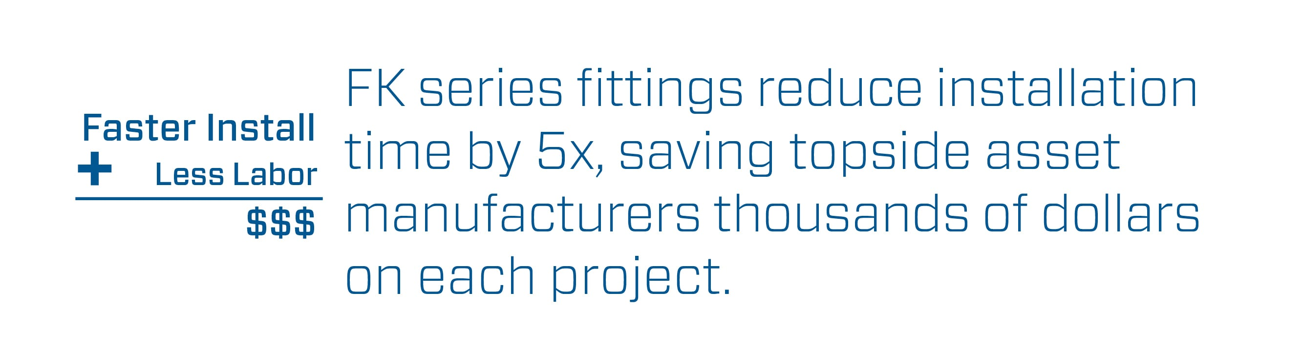 FK Series Fittings Cost Savings Infographic